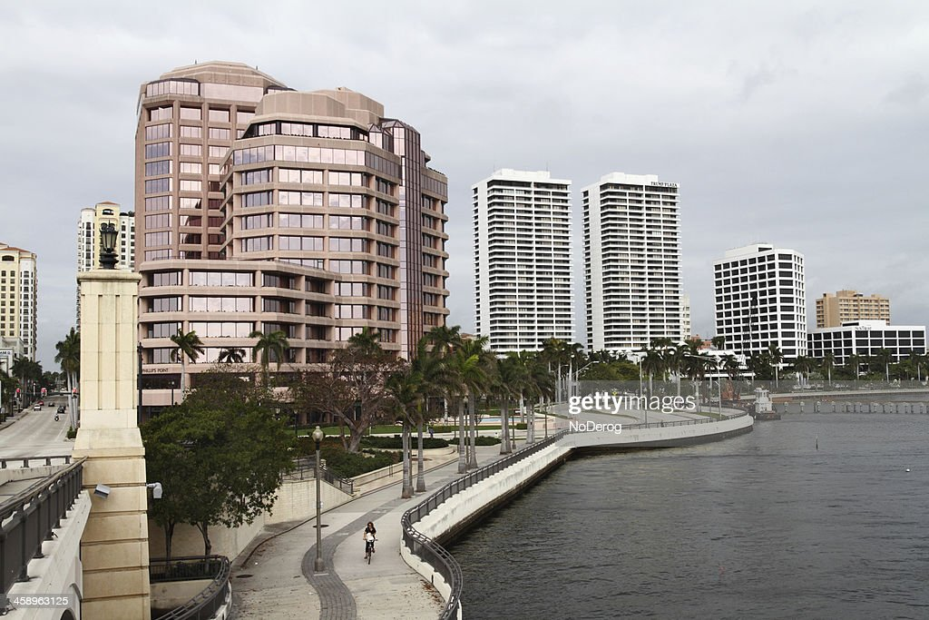 Downtown West Palm Beach along Intracoastal waterfront : Stock Photo