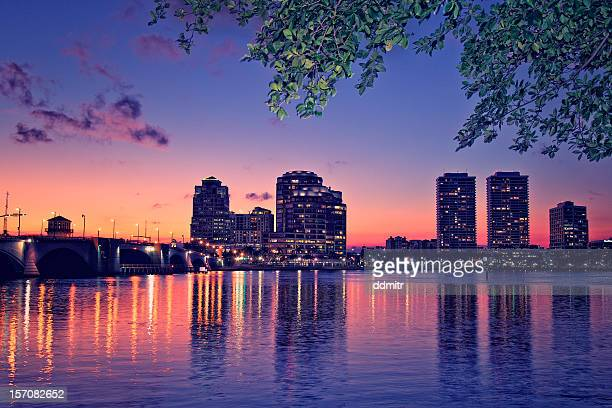 Downtown West Palm Beach at Night