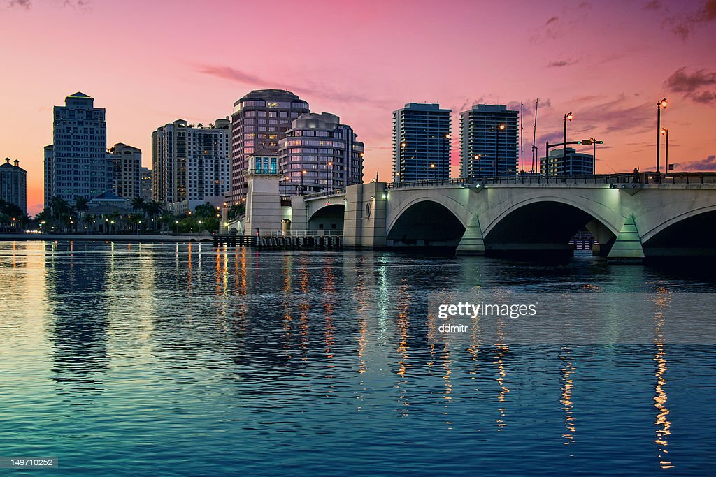 Downtown West Palm Beach : Stock Photo