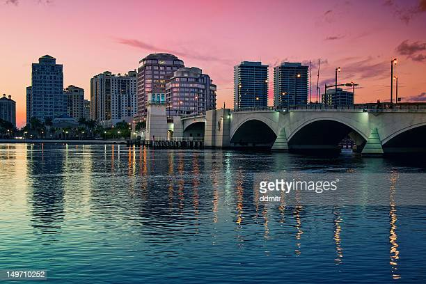 downtown west palm beach - west palm beach stock pictures, royalty-free photos & images