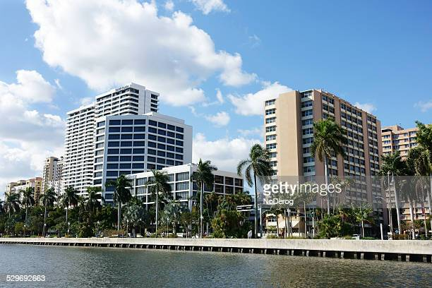Downtown West Palm Beach waterfront.