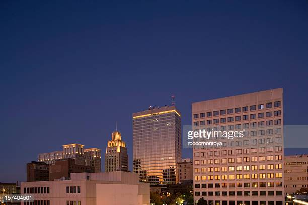 downtown, winston-salem - winston salem stock pictures, royalty-free photos & images