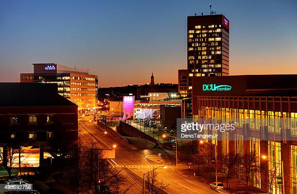 downtown worcester massachusetts - worcester massachusetts stock pictures, royalty-free photos & images