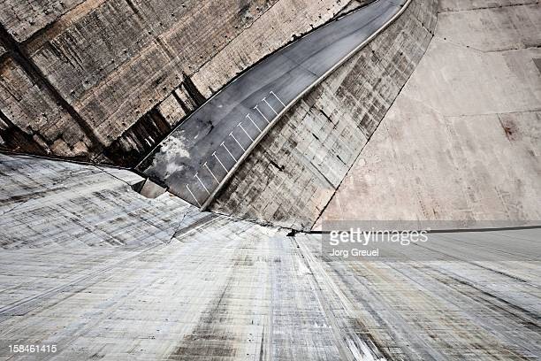 Downward view from a dam