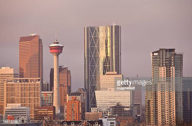 Dowtown Calgary and Bow Tower