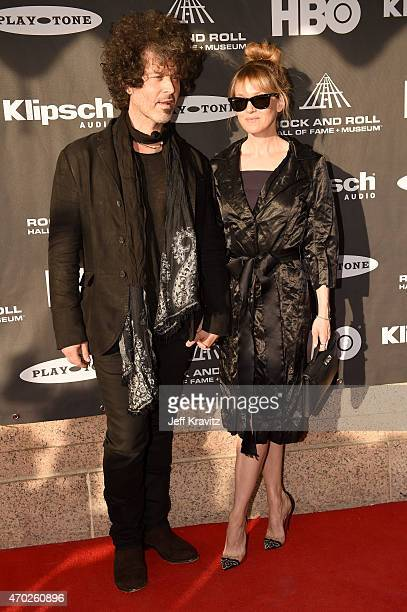 Doyle Bramhall II and actress Renee Zellweger attend the 30th Annual Rock And Roll Hall Of Fame Induction Ceremony at Public Hall on April 18 2015 in...