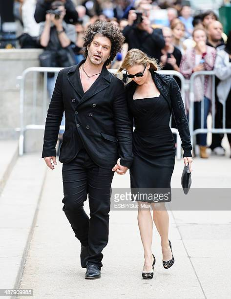 Doyle Bramhall II and actress Renee Zellweger seen at the memorial service for L'Wren Scott on May 2 2014 in New York City