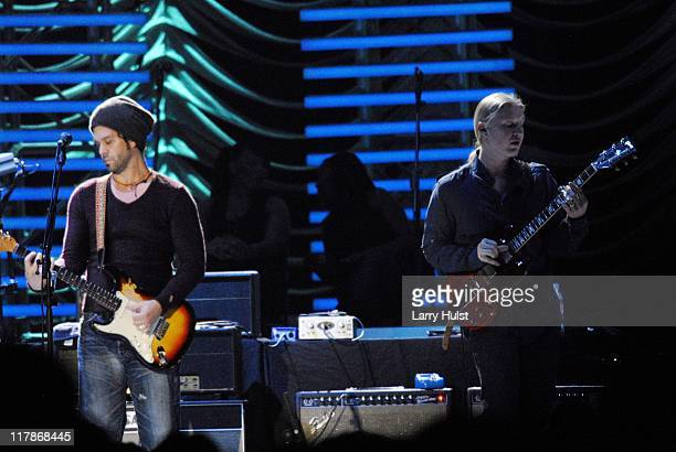 Doyle Bramhall II and Derek Trucks performing with Eric Clapton' at the Pepsi Center in Denver Colorado on March 7 2007