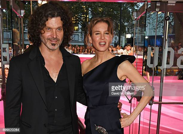 Doyle Bramhall II and Renee Zellweger attend the World Premiere of Bridget Jones's Baby at Odeon Leicester Square on September 5 2016 in London...