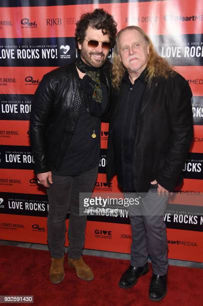 Doyle Bramhall II and Warren Haynes attend the Second Annual LOVE ROCKS NYC A Benefit Concert for God's Love We Deliver at Beacon Theatre on March 15...