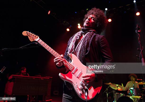 Doyle Bramhall II performs on stage at O2 Shepherd's Bush Empire on February 18 2015 in London United Kingdom