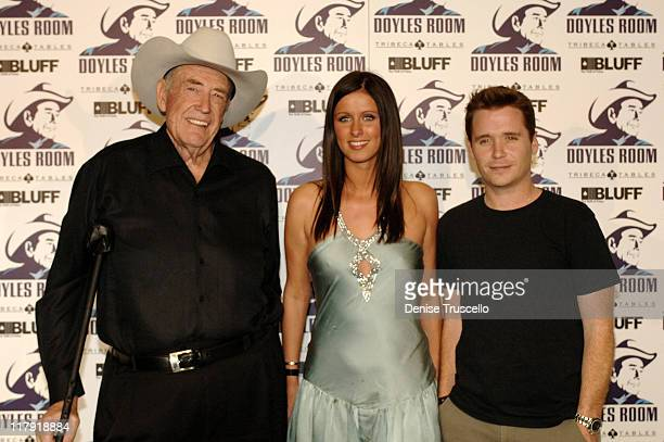 Doyle Brunson Nicky Hilton and Kevin Connolly during Doyle Brunson Hosts His World Series of Poker Appreciation Party at The Rio Hotel and Casino...