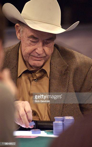 Doyle Brunson poker book author during the World Poker Tour special 'Poker By The Book' World Poker Tour can be seen Wednesdays at 9 pm on the Travel...
