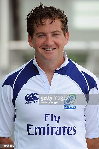 Doyle poses for the referees photocall during the IRB Junior World Championship 2011 Launch on June 8 2011 in Treviso Italy