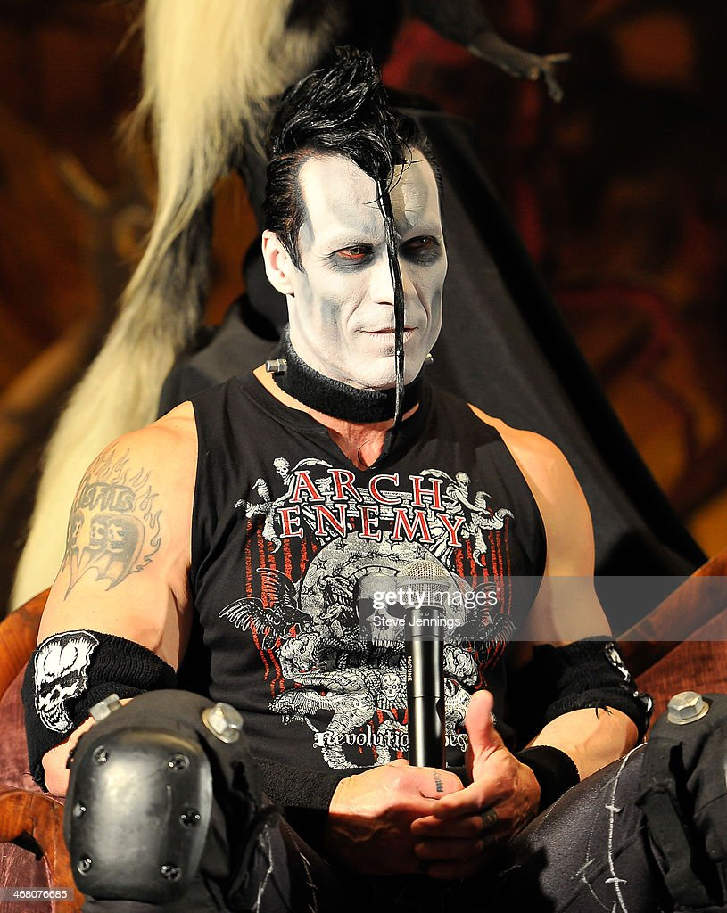 Doyle Von Frankenstein of Misfits speaks on the panel 'Speaking In The Key Of Horror' at Kirk Von Hammett's Fear FestEvil at Grand Regency Ballroom on February 8, 2014 in San Francisco, California.