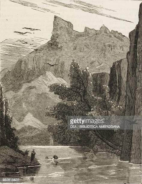 Doza Kushtuk Pass Bugti Hills Pakistan illustration from the magazine The Graphic volume XVIII no 467 November 9 1878