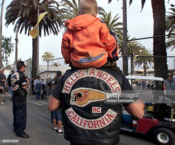 A dozen Hells Angels were denied entry to the Ventura County Fair on Wednesday evening after refusing to remove their black leather vests emblazoned...