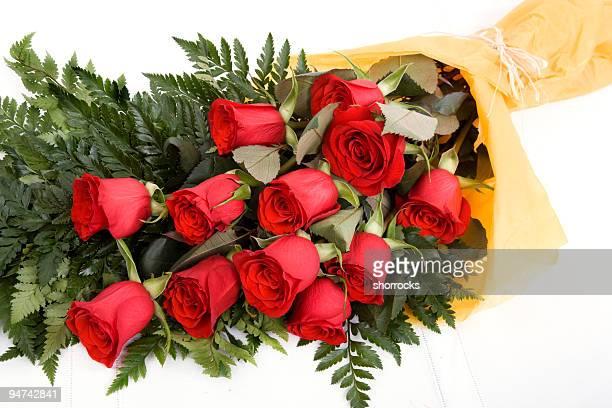 dozzina di rose (xxl - mazzo di rose foto e immagini stock