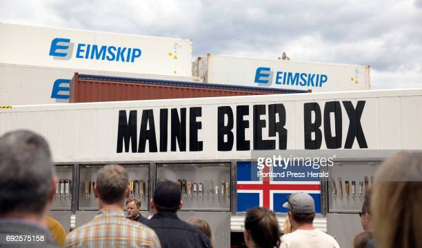 Dozens of brewers gathered at EIMSKIP on Friday to bid bon voyage to the Maine Beer Box a shipping container full of Mainemade brews bound for a beer...