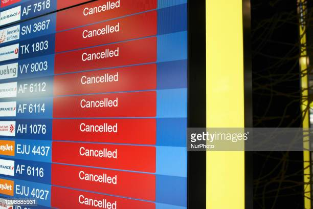 Dozens of flights are cancelled Toulouse-Blagnac airport in Toulouse, France, on April 1, 2020. As the Covid-19 massive outbreak concerns nearly all...