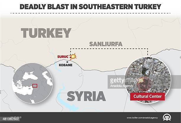 Dozens of people have been killed in a blast that rocked a gathering in Turkish border district Suruc of southeastern province of Sanliurfa near...