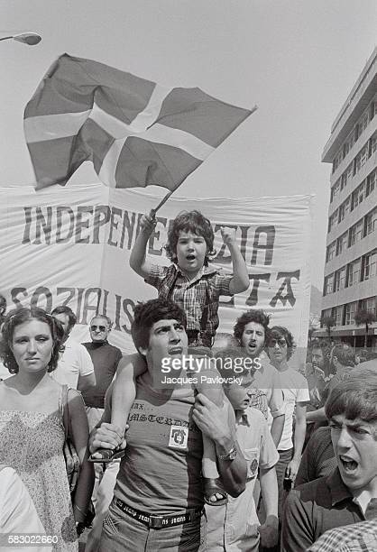 Dozens of thousands of people demonstrate to protest the death of a Basque independentist activist shot by the police and demand a 'Socialist and...