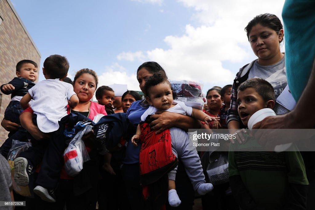 Despite Trump Executive Order, Over 2300 Migrant Children Still Held In Cam : News Photo