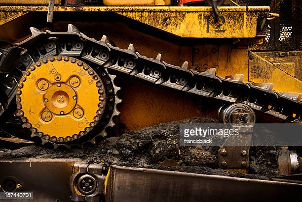 dozer detail - excavator stock photos and pictures