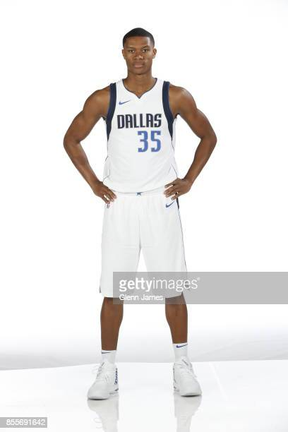 J Dozier of the Dallas Mavericks poses for a portrait during the Dallas Mavericks Media Day on September 25 2017 at the American Airlines Center in...