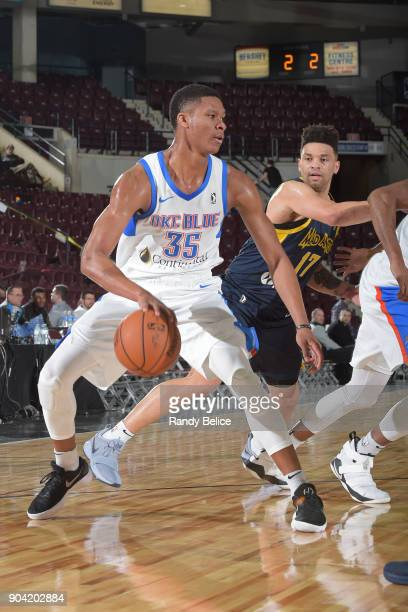 Dozier of the Oklahoma City Blue dribbles the ball against the Fort Wayne Mad Ants during the NBA GLeague Showcase on January 11 2018 at the Hershey...