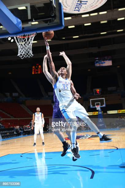 Dozier of the Oklahoma City Blue dunks against the Northern Arizona Suns during an NBA GLeague game on December 19 2017 at the Cox Convention Center...