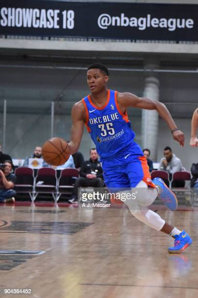 Dozier of the Oklahoma City Blue handles the ball against the Long Island Nets at NBA G League Showcase Game 18 on January 12 2018 at the Hershey...