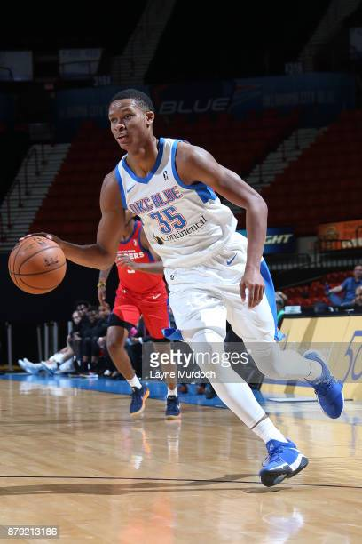 Dozier of the Oklahoma City Blue handles the ball during a NBA GLeague game against the Agua Caliente Clippers on November 25 2017 at the Cox...