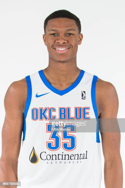 Dozier of the Oklahoma City Blue poses for a head shot during the NBA GLeague media day at the Blue Development Center in Edmond Oklahoma on November...