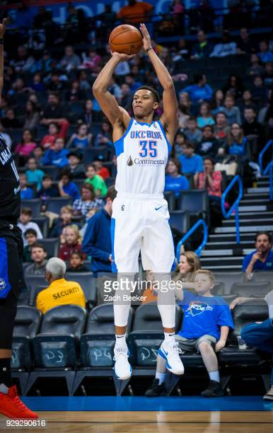 Dozier of the Oklahoma City Blue shoots the ball against the Lakeland Magic at Chesapeake Energy Arena in Oklahoma City OK NOTE TO USER User...