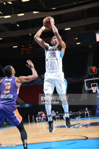 Dozier of the Oklahoma City Blue shoots the ball against the Northern Arizona Suns during an NBA GLeague game on December 19 2017 at the Cox...