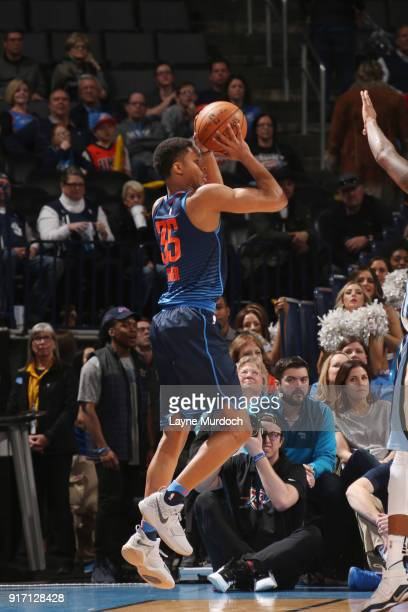 Dozier of the Oklahoma City Thunder shoots the ball against the Memphis Grizzlies on February 11 2018 at Chesapeake Energy Arena in Oklahoma City...