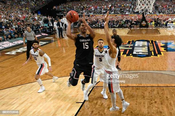 Dozier of the South Carolina Gamecocks drives to the basket during the 2017 NCAA Men's Final Four Semifinal against the Gonzaga Bulldogs at...