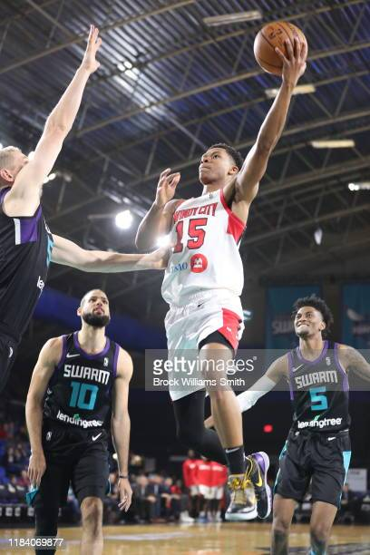 Dozier of the Windy City Bulls handles the ball against the Greensboro Swarm at The Fieldhouse on November 22, 2019 in Greensboro, North Carolina....