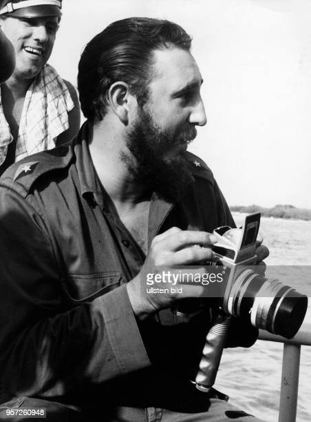 A dpa file picture dated 01 January 1962 shows Cuban leader Fidel Castro during a visit to the Bay of Pigs on the southern coast of Cuba On 17 April...