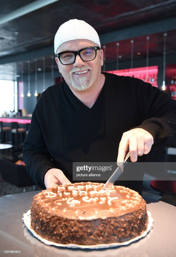 Dpa Exclusive Singer Dj Oetzi Cuts His 45th Birthday Cake At The