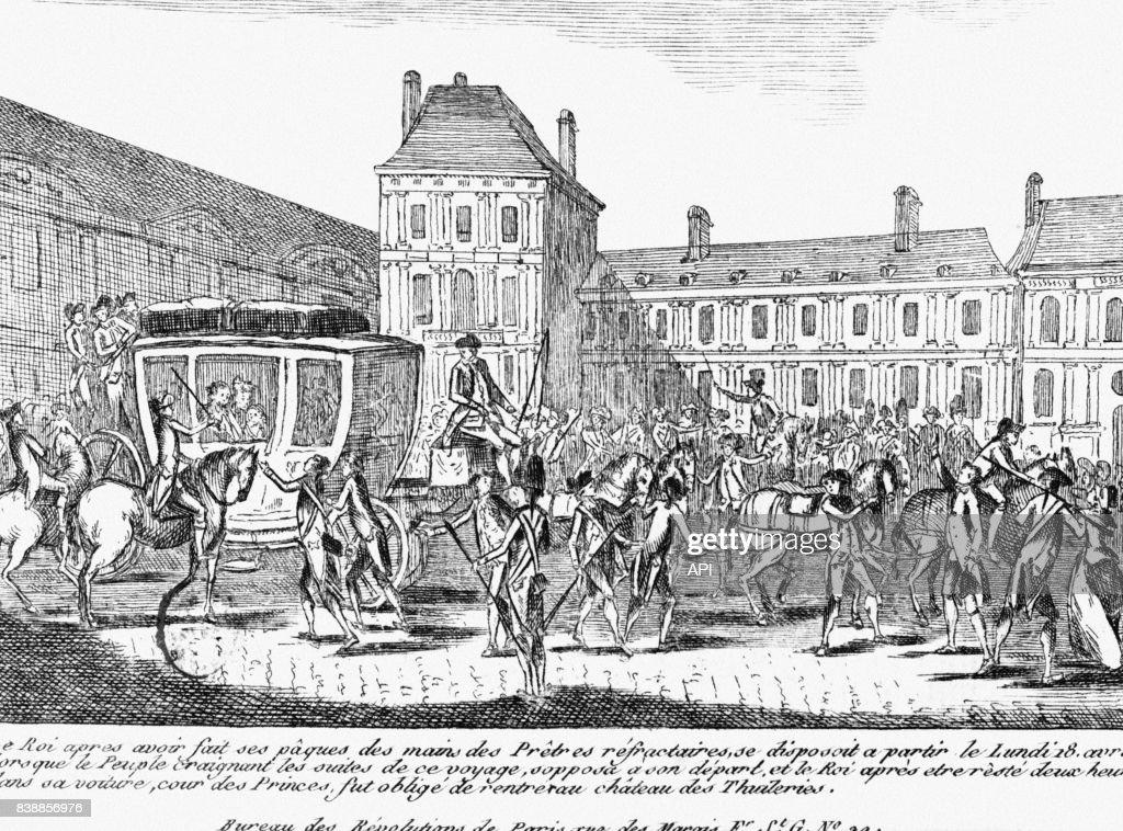 Départ de Louis XVI pour Saint-Cloud, en avril 1791, au palais des... Photo  d'actualité - Getty Images
