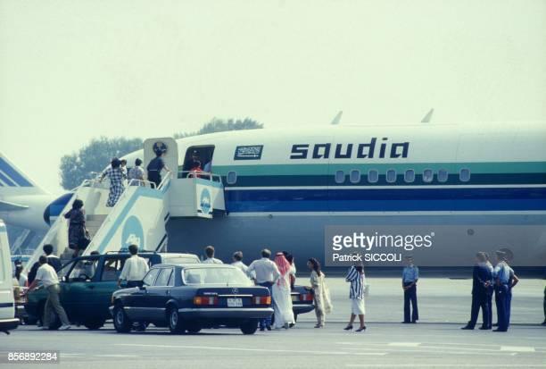 Départ des résidents saoudiens menacés d'attentats dans le sud de la France le 18 août 1987