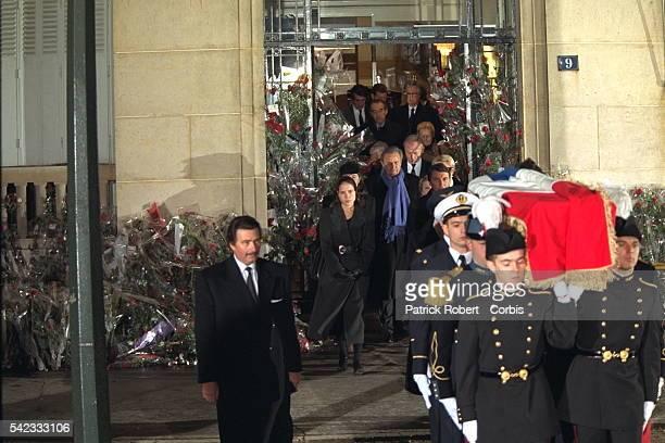 Départ du cortège funéraire pour Villacoublay.
