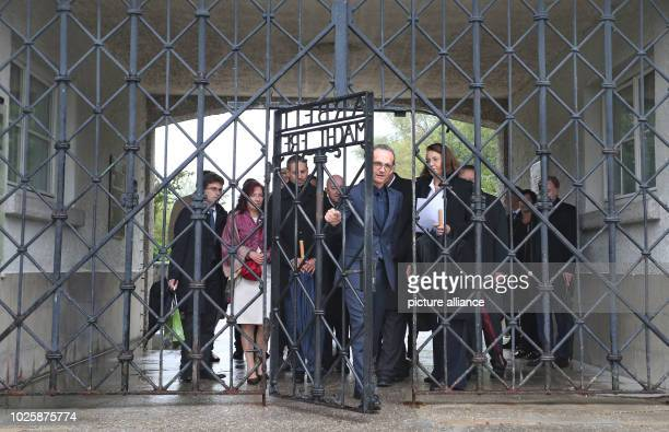 Federal Foreign Minister Heiko Maas walks through the gate of the concentration camp memorial Heiko Maas visited the former concentration camp during...