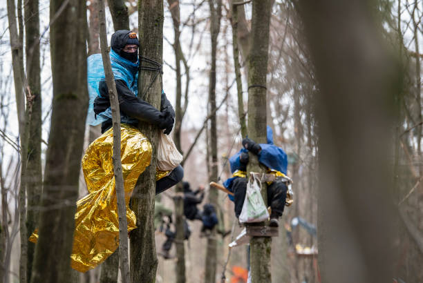 DEU: Protest Action In The Danneroeder Forst Continues