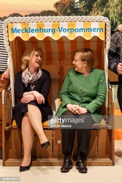 Dpatop - 06 March 2018, Germany, Berlin: German Chancellor Angela Merkel and Manuela Schwesig, Prime Minister of Mecklenburg-Western Pomerania,...