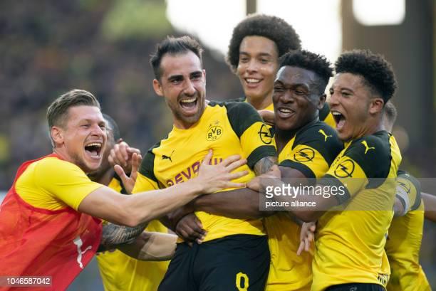 dpatop 06 October 2018 North RhineWestphalia Dortmund 06 October 2018 Germany Dortmund Soccer Bundesliga Borussia Dortmund vs FC Augsburg 7th...
