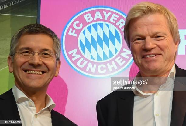 dpatop 07 January 2020 Bavaria Munich Former goalkeeper Oliver Kahn at his presentation as new Bayern Munich board member alongside club president...
