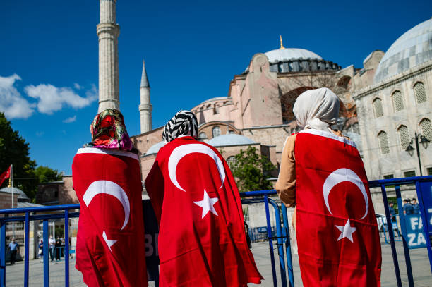 TUR: Opening Of The Hagia Sophia For Islamic Prayer Ordered
